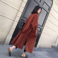 双面羊绒大衣女中长款反季羊毛呢子大衣2019新款毛呢外套 S 90-105斤