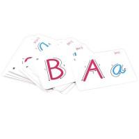 26个英文字母学习卡片标准手写英语字母儿童学习卡片字母早教卡片