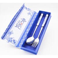 青花瓷餐具刀叉勺筷子套装特色中国风礼物出国送老外商务会议礼品