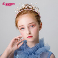 儿童皇冠头饰公主粉色花仙子发箍头花女童发饰花童女孩生日饰品