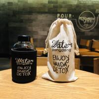 韩国water水杯网红小清新可爱胖胖杯便携耐热水果茶玻璃杯子ins