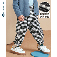 【1件6折】迷你巴拉巴拉儿童裤子男童宽松长裤2019年秋季新款女童宝宝萝卜裤