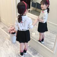 女童衬衣秋装2018新款韩版洋气上衣中大童打底衫儿童白衬衫潮