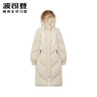 波司登2018冬季新款长款过膝羽绒服女士厚款保暖外套