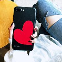 苹果x手机壳新款潮牌iphone8plus/7/6s保护套女个性创意红色爱心 iphone⑥/⑥s-my love