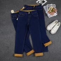 加绒牛仔裤修身显瘦小脚铅笔裤子冬季女装保暖长裤 27码