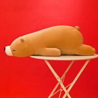 北极熊趴趴熊公仔毛绒玩具抱枕玩偶娃娃大号生日儿童节礼物送女生系
