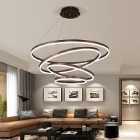 客厅吊灯 现代简约创意个性led环形客厅灯大气圆形餐厅灯北欧灯具
