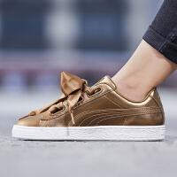 PUMA彪马女鞋2018秋冬新款休闲金色蝴蝶结板鞋运动鞋366730