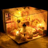 diy小屋 创意礼品手工拼装建筑装模型儿童木制玩具迷你盒子小房子别墅生日520礼物