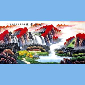 国家一级美术师,中国书画家协会会员,中国山水画研究院研究员范海(鸿运当头)3