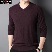 短袖100%�羊毛衫 春秋冬季保暖�N身穿V�I�色打底衫�却┟�衣青中年��衫毛衫伯克�� Z1802