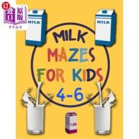 【中商海外直订】Milk Mazes For Kids 4-6: A Maze Activity Book for K