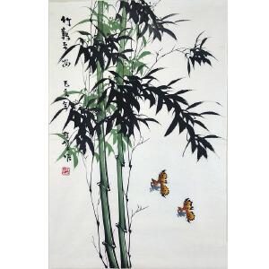 中国美协会员,龙门书画院院长侯桂峰(竹报平安)66