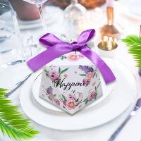 高档钻石抖音欧式喜糖盒创意婚礼宝宝满月礼盒结婚糖盒包装纸盒子