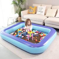 儿童决明子玩具沙池充气沙滩池套装宝宝家用室内男孩沙土玩沙子