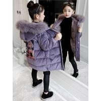 儿童秋冬季2018新款棉袄洋气女孩棉衣中长款外套棉服