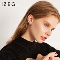 2019新款潮流小众耳饰女士气质耳设计感蝴蝶结耳钉环