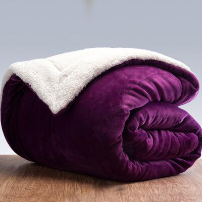 三层毛毯加厚双层冬季盖毯珊瑚绒毯被子毯子单双人