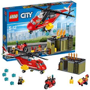 [当当自营]LEGO 乐高 城市系列 消防直升机组合 积木拼插儿童益智玩具 60108