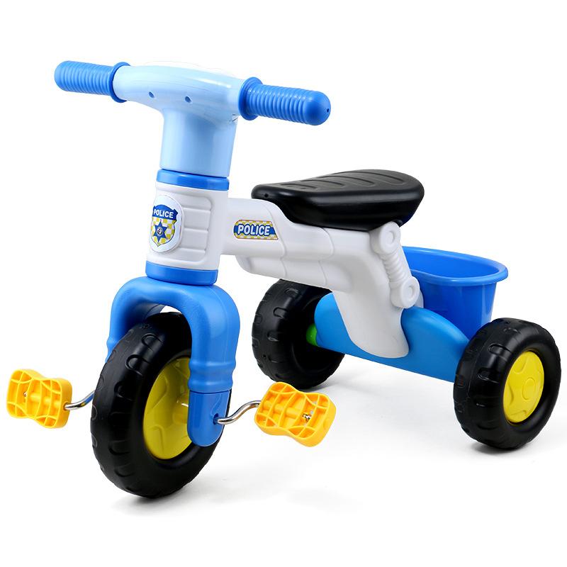 婴儿童车2 3 4 5 6岁儿童三轮车幼儿小孩警车款自行车宝宝脚踏车