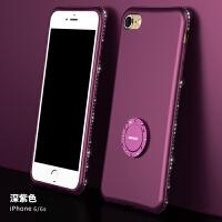 苹果6手机壳 女款软硅胶iphone6 plus水钻磨砂防摔6s套挂绳支架6p