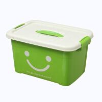 收纳箱 大号家用胶箱子塑料储物箱药盒透明带盖桌面收纳盒子整理箱收容箱