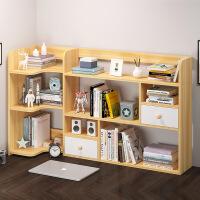 【爆款】简易书架置物架简约现代组装学生用创意组合柜家用桌上小柜子
