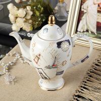 创意咖啡具欧式茶具套装陶瓷茶壶英式下午茶骨瓷杯具花茶套装 15件