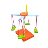diy手工制作小玩具旋转木马 木马儿童手工科技小制作diy材料包发明创意亲子玩具