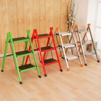 梯子家用折叠梯凳二三四五步加厚铁管踏板室内人字梯三步梯小梯子