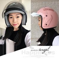 四季通用头盔女士冬季保暖电瓶车安全帽电动摩托车半盔