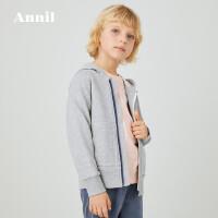 【活动价:184.5】安奈儿童装男童外套纯棉春秋2020新款中大童洋气保暖学生外套连帽