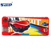 sdip智力 EM3002 A红色 儿童笔盒男童小学生卡通文具笔盒韩国简约大容量铅笔袋 当当自营