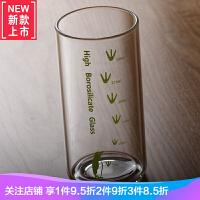 耐高温玻璃杯 简约加厚底玻璃茶杯酒杯水杯子早餐杯