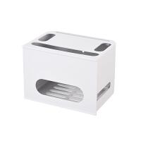 无线路由器收纳盒 理线盒置物架WIFI整理盒插线板保护盒电线理线器