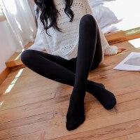 加厚加绒保暖打底裤子秋冬连裤袜女外穿连脚肉色光腿黑色显瘦