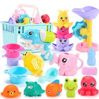 戏水捏捏叫男孩女孩婴儿儿童喷水1-3岁益智套装2浴缸宝宝洗澡玩具