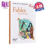 【中商原版】【法文版】法国高中会考2020系列:拉封丹寓言 法文原版 BAC 2020:Fables Jean de L
