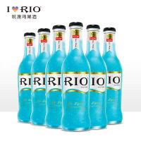 RIO锐澳鸡尾酒套装预调酒洋酒果酒3.8度蓝玫瑰口味275ml*6瓶整箱