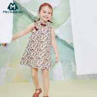 迷你巴拉巴拉女童旗袍2020夏装新款儿童宝宝童装中国风全棉连衣裙