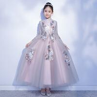 209新款秋冬儿童礼服公主裙儿童走秀钢琴演出服女童小主持人礼服
