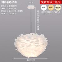 羽毛吊灯简约现代北欧羽毛吊灯创意客厅床头网红少女温馨浪漫个性卧室灯具
