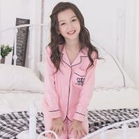 儿童睡衣女童春秋季长袖宝宝家居服中大童小女孩公主套装薄款