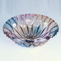 创意欧式时尚琉璃色水果盘大号玻璃果盘客厅现代
