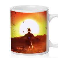 马克杯高斯奥特曼定制创意陶瓷杯子水杯简约情侣杯带盖0082