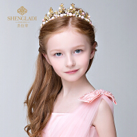 儿童头饰公主发饰韩式女孩皇冠头饰发卡粉色发箍花童演出