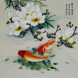 中美协会员,工笔协会会员,河南牡丹书画院院长陈景芝(金玉满堂)72