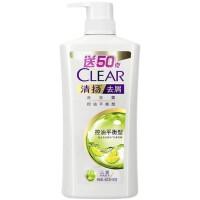 【7.27超品价29.9元】清扬(CLEAR)洗发露 控油平衡型(去屑+控油)450g(洗发水)