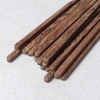 10双装家用红木中华筷鸡翅木筷子实木筷子套装 鸡翅木筷10双装